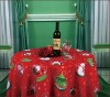 100% polyester X'mas designs printed table cloth