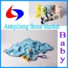 100% polyester anti-piling portable baby fleece blanket (animal style)