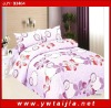 100% polyester bedclothes/ beautiful leaf print bedding set/ good quality bedding set/printed 4pcs bedding set