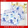 100% polyester blue flower quilt cover sets/ natural design bedding sets- Yiwu taijia textile