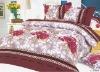 100% polyester brushed disperse printed bedding set
