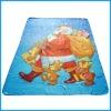 100% polyester christmats printed fleece blanket