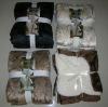 100%polyester embossed sherpa blanket