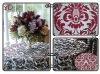 100%polyester flocking taffeta table cloth for wedding
