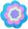 100% polyester flower cushion