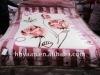 100% polyester flower printed raschel-knitted blanket 200*240cm