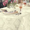 100% polyester jacquard damask tablecloth for banquet
