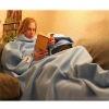 100% polyester polar fleece snuggie blanket super soft and comfortable