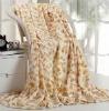 100% polyester printed coral velvet fleece blanket