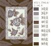 100% polyester printed mink blanket red brown