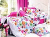 100%polyester printed twill bed set