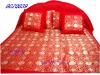 100%polyester satin bedspread set 5pcs