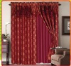 100% polyester yard deyd jacquard window curtain valance and with taffeta liner +two tassels