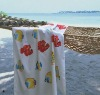 100% printed velour beach towel