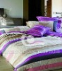 100 % satin cotton printed bed linen