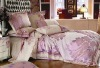 100% silk Four-piece printing bedding set