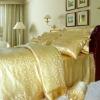 100% silk jacquard bedding set 4 pieces Full Queen King Cal king