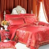 100% silk jacquard yarn dyed bedding set 6 pieces Full Queen King Cal king