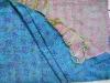 100%silk vintage handmade reversible kantha shawl/scarves/stoles
