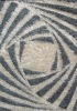 100% textured wool and polyster indian handtufted rug or carpet made of semi twist yarn in modern design