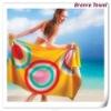 100% velour cotton reactive printed beach towel