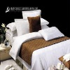 100% white cotton plain bed fitted sheet-hotel bed linen