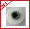 100% white spun bright polyester yarn for knitting 20s