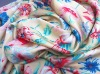 100D flower printed chiffon fabric