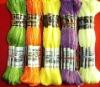 105 skeins packing 100% cotton thread(26/2*6 30/2*6 28/2*6)