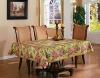 """2"""" golden lace edge PVC tablecloth"""