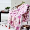 2 ply Polyeter blanket with flowers