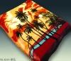 200x240cms Super soft Design Mink orange 100% polyester blanket