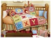 2011 BABY CRIB BEDDING SET WITH LETTER EMBROIDERY