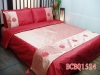 2011 Plain silk bedding cover with embroidery,6 pcs/one set