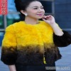 2011 Women/ lady  rabbit fur coat with changing color 11YY-WN007
