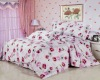 2011 fashion design 100% cotton printing bed linen with 4 pcs