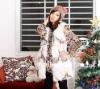 2011 fashion real fur vest ladies fur fox vest