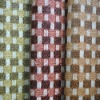 2011 fashional PVC braided fabric printing synthetic leather for bags