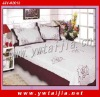 2011 high quality 100%cotton embroidered patchwork quilt set