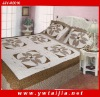 2011 high quality 100%cotton patchwork in border and reactive dye printing 3pcs bedding set