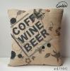 2011 new design european style printing flax cushion