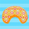 2011 new design moon  shape support cushion( beads stuffed)
