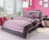 2011 romantic pink korea bedding set/bed sheet