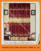 2011new 100%Polyester embroidered sheer curtains