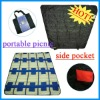 2012 100% polyester waterproof folding picnic blanket