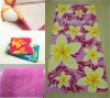2012 Fashion flower printed promotional towel