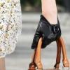 2012 New Ladies Lambskin leather glove BLACK(L078NQ)