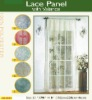 2012 new 100% polyester curtain with valance