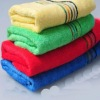 2012 rainbow 100% cotton face towels