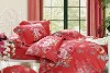 205T reactive print 100%cotton 4 pcs bedding set /bedsheet